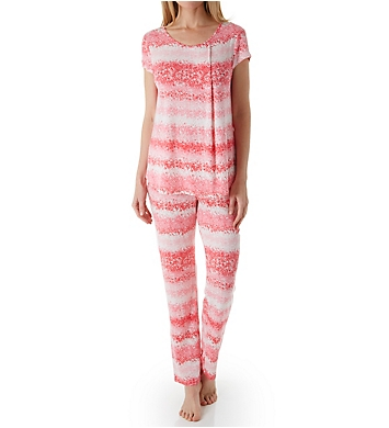Carole Hochman Midnight Summer Dye Short Sleeve Long PJ Set