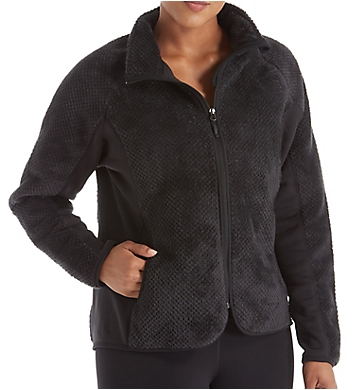 Champion Plus Size Lux Faux Fur Bonded Fleece Knit Jacket