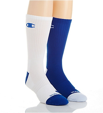 Champion Men's Basketball Crew Socks- 2 Pack