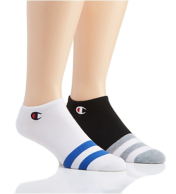 Champion Men's Performance Super No Show Socks - 2 Pack