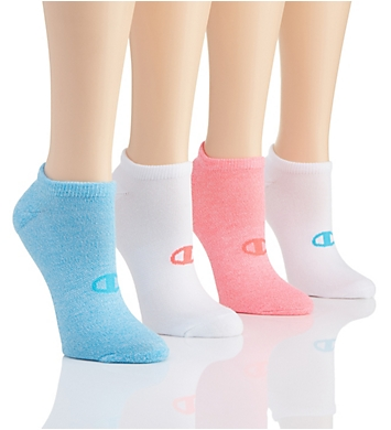 Champion Performance Double Dry No Show Socks - 4 Pair