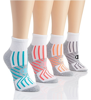Champion Performance Double Dry Ankle Socks - 4 Pair