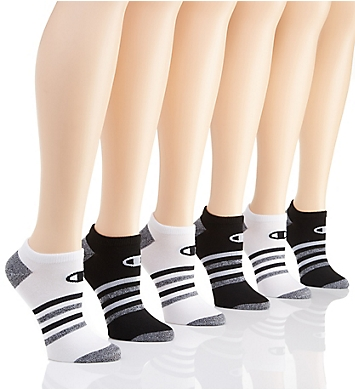 Champion Core Performance Double Dry No Show Socks - 6 Pair