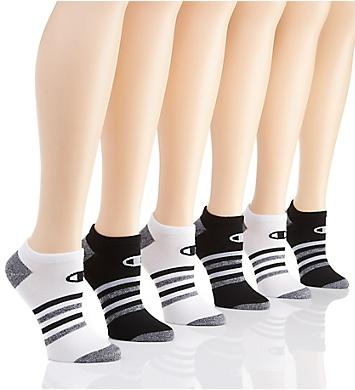 Champion Core Performance Double Dry No Show Socks - 6 Pair