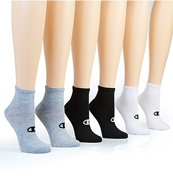 Champion Core Performance Double Dry Ankle Socks - 6 Pair