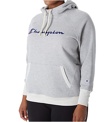 Champion Plus Powerblend Fleece Graphic Pullover Hoodie