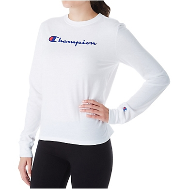 Champion GF88H-2Classic Graphic Long Sleeve Crew Neck Tee