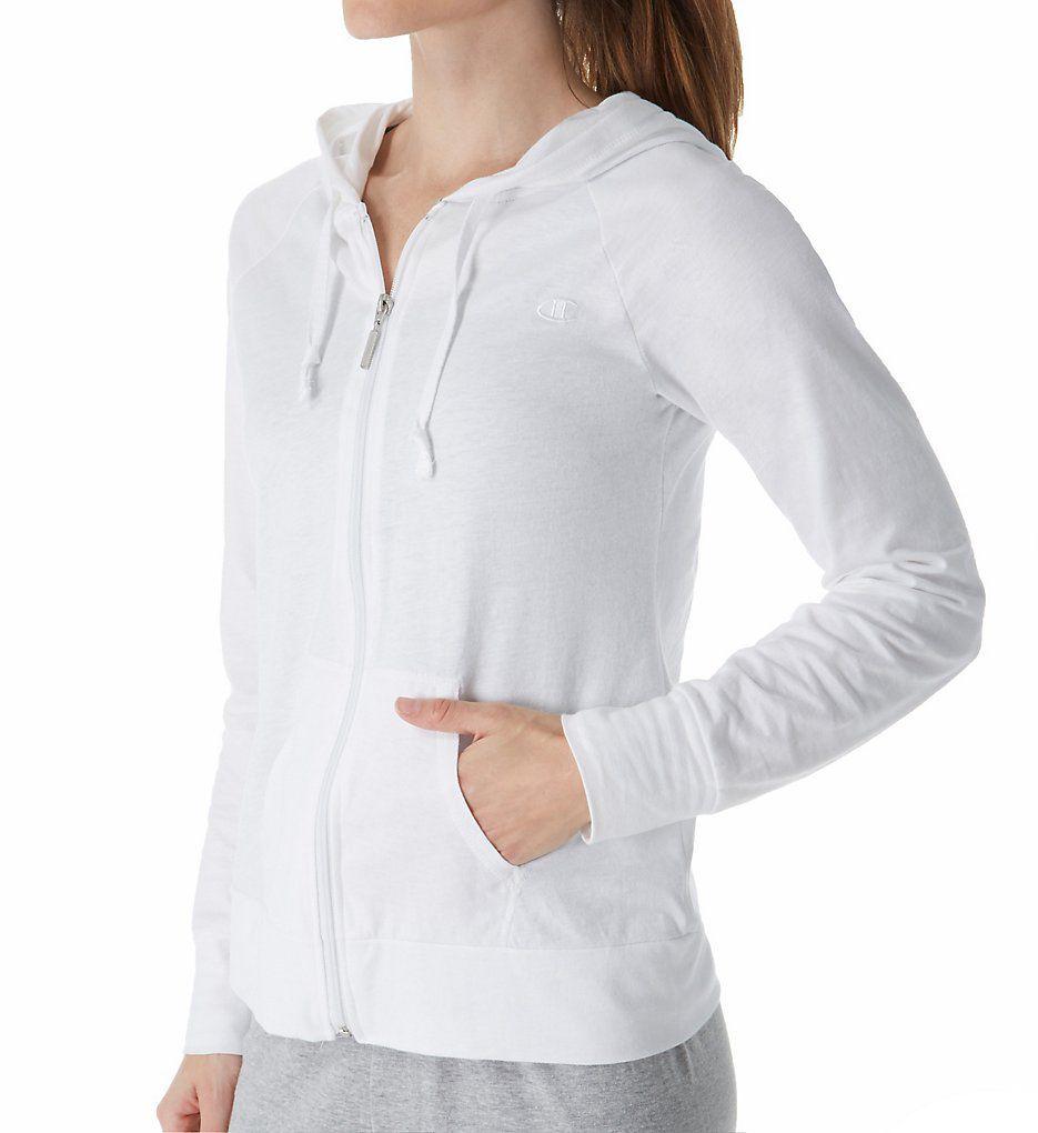 Champion Authentic Jersey Full Zip Hoodie Jacket