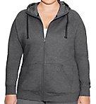 Plus Size Fleece Full Zip Hoodie Jacket