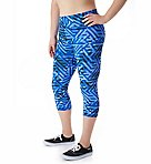 Absolute Plus Size Print Capri with SmoothTec Band