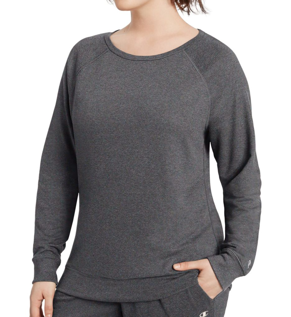 Champion Plus Size French Terry Boatneck Crew Top