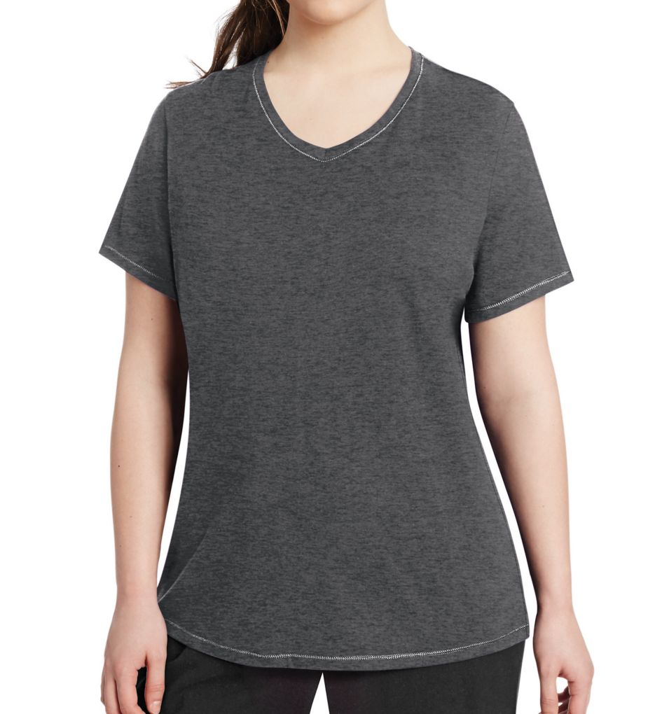 Champion Vapor Plus Size Cotton V-Neck Short Sleeve Tee