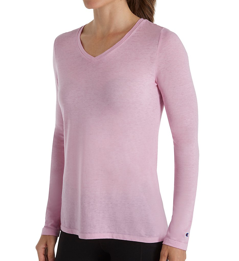1100e1e2d Champion Women Authenic Wash Long Sleeve Tee W3138. About this product.  Stock photo; Picture 1 of 2; Picture 2 of 2