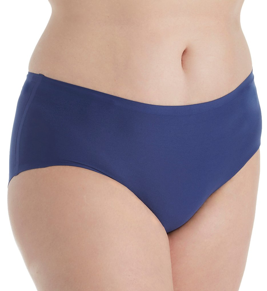 Chantelle - Chantelle 1134 Soft Stretch Seamless Hipster Plus Size Panty (Indigo Blue O/S)