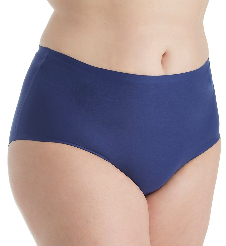Chantelle - Chantelle 1137 Soft Stretch Seamless High Waist Brief Plus Panty (Indigo Blue O/S)