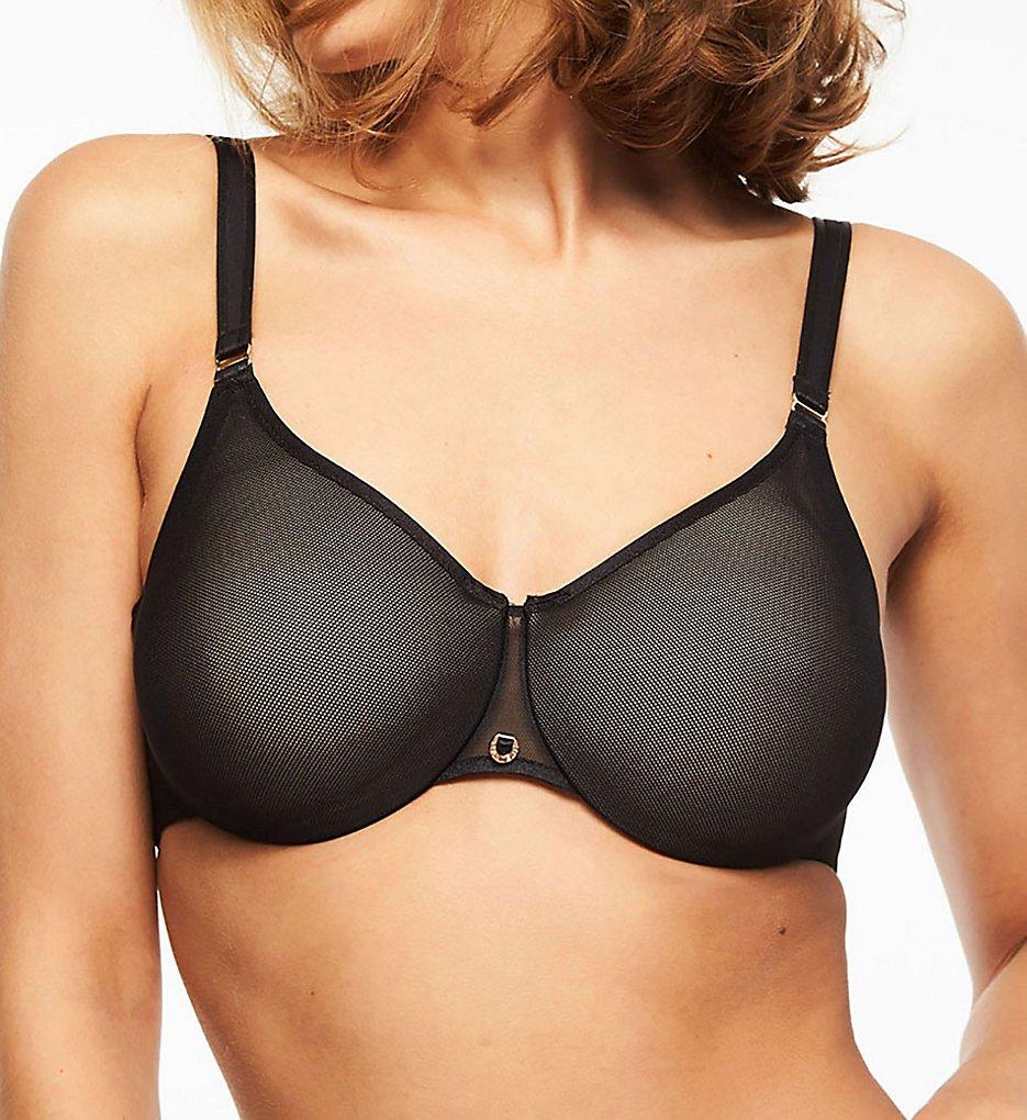 Chantelle : Chantelle 1411 C Magnifique Sexy Seamless Underwire Minimizer Bra (Black 32D)