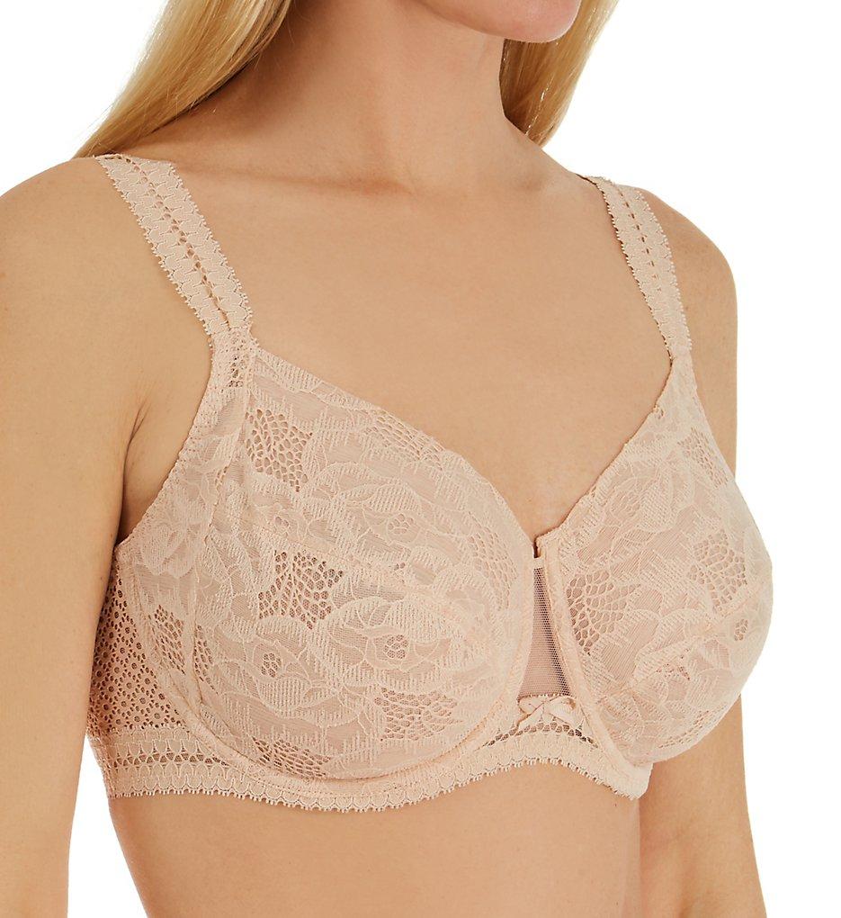 Chantelle 1431 Montsouris Lace Full Coverage Unlined Bra (Nude Blush)