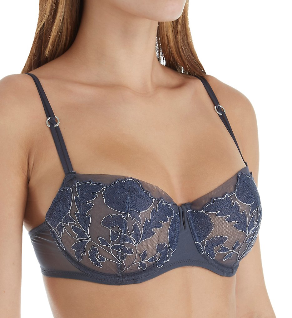 Chantelle - Chantelle 1755 Garnier Lace Unlined Demi Bra (Mist Grey 38B)