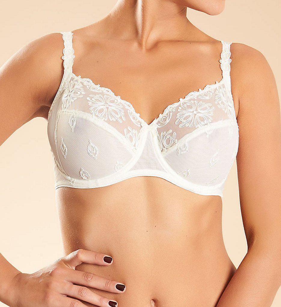 Chantelle (2018740) - Chantelle 2601 Champs Elysees Underwire Full Coverage Unlined Bra (Ivory 34C)
