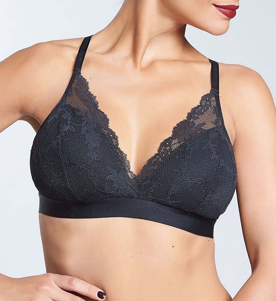 Chantelle - Chantelle 6721 Everyday Lace Racerback Wirefree Bra (Black L)