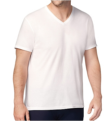 Chaps Extended Size Essential V-Neck T-Shirts - 4 Pack