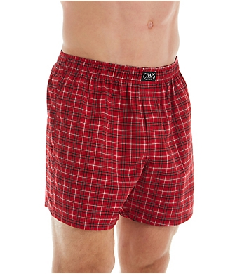 Chaps Essential Cotton Blend Woven Boxers - 3 Pack