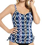 Evening Spell D-Cup Adjustable Tankini Swim Top