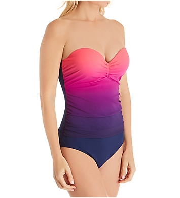 Christina Vibrant Tidal One Piece Bandeau Swimsuit