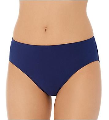 Christina Solid Semi High Waist Brief Swim Bottom