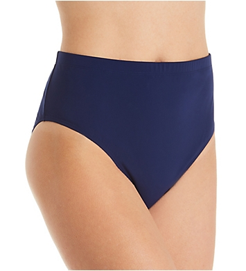Christina Solid Bottom High Waist Swim Bottom