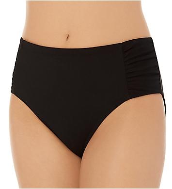 Christina Solid High Waist Shirred Brief Swim Bottom