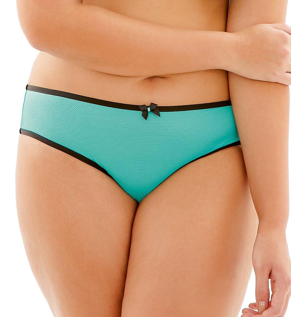 Cleo by Panache - Cleo by Panache 9152 Blake Brazilian Brief Panty (Turquoise S)