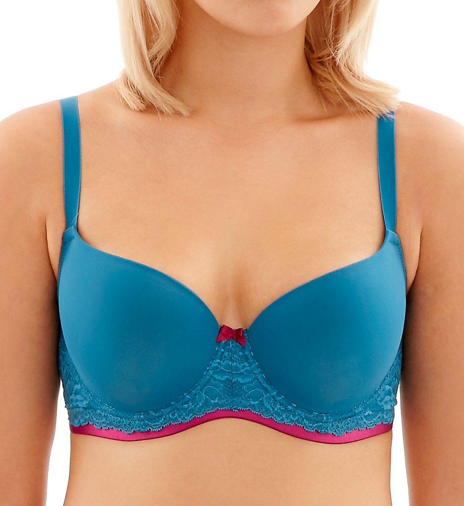 Cleo by Panache - Cleo by Panache 9361 Morgan Molded Balconnet Bra (Teal 32D)