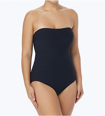 Coco Reef Texture Galena Bandeau Shaping One Piece Swimsuit