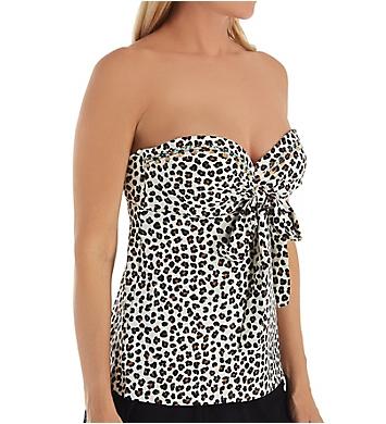 Coco Reef Cheetah Five Way Bra Sized Tankini Swim Top
