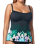 Tropical Escape Underwire Tankini Swim Top