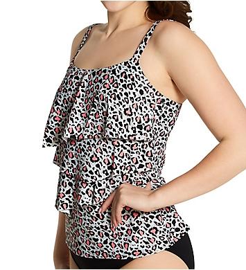 Coco Reef Wild Card Aura Ruffle Bra Sized Tankini Swim Top