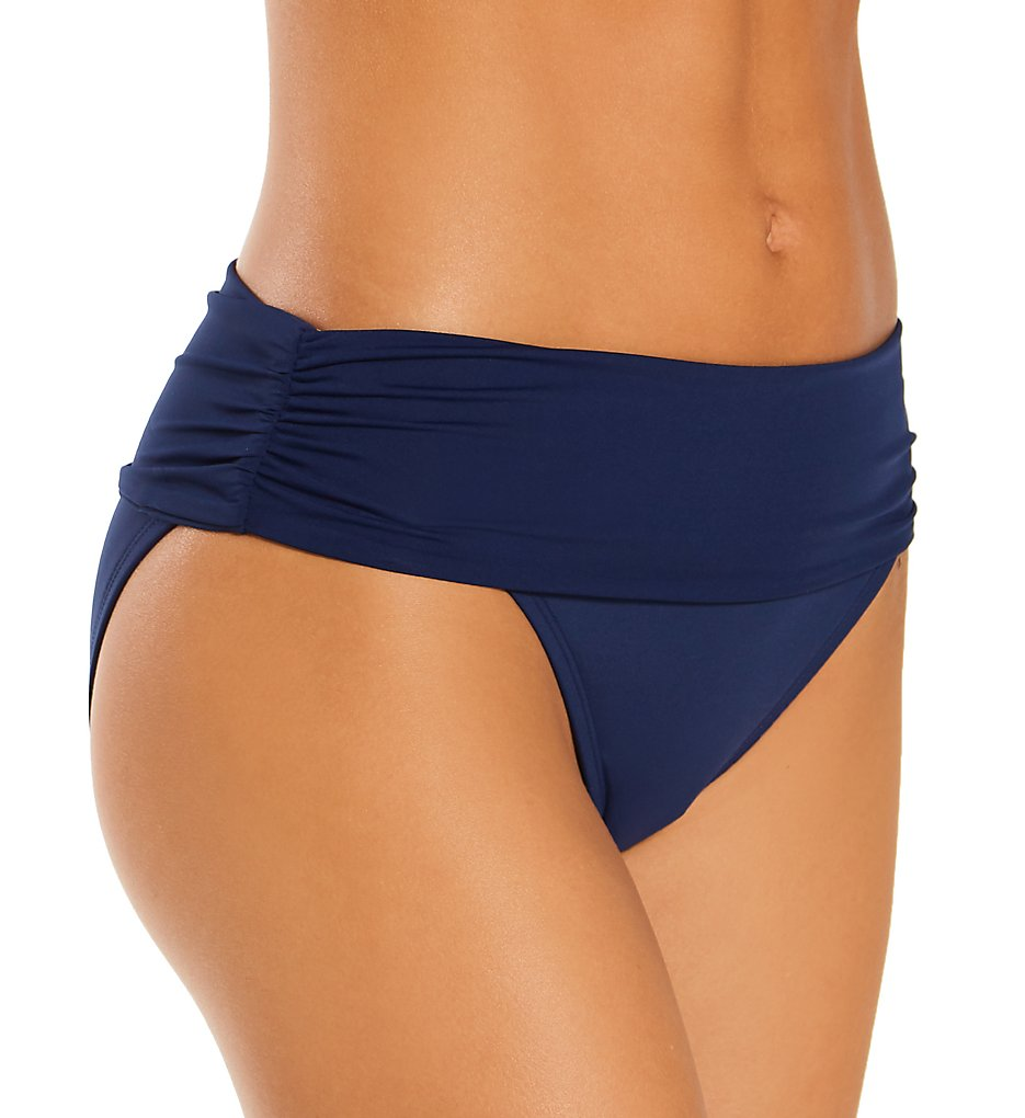 Coco Reef U95208 Classic Solids Impulse Rollover Bikini Swim Bottom (Navy Captain)