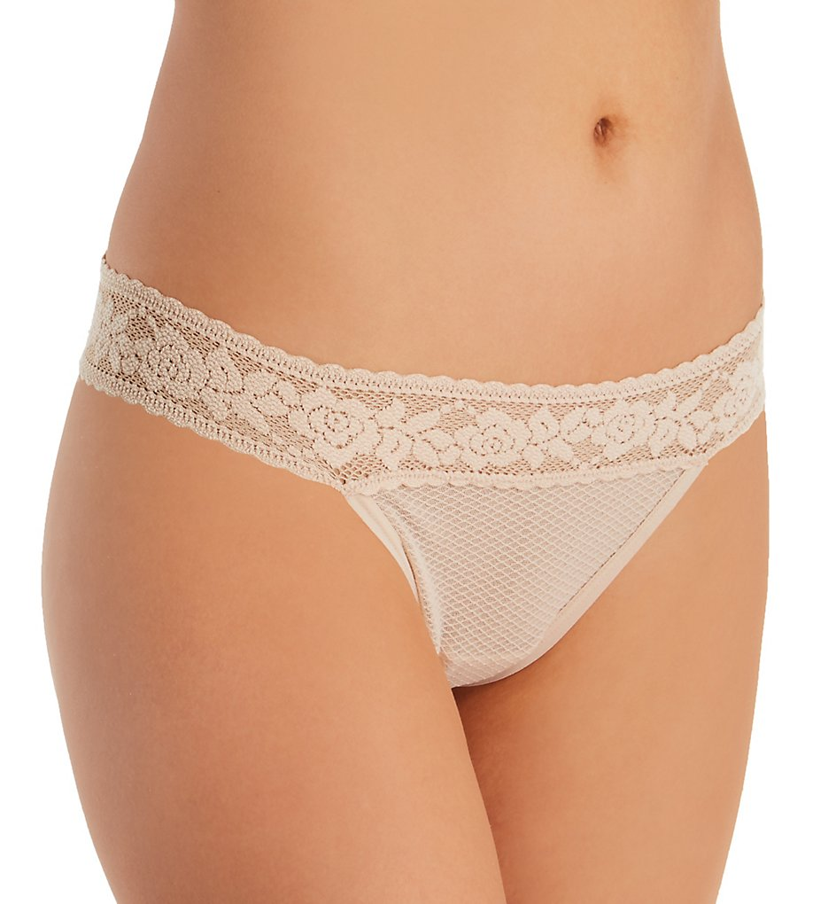 Commando - Commando KS102 Kitty Soft Thong (Beige O/S)