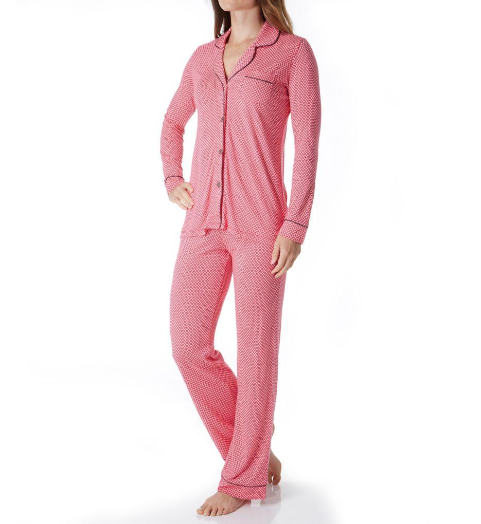 Cosabella Bella Print Long Sleeve Top and Pant PJ Set