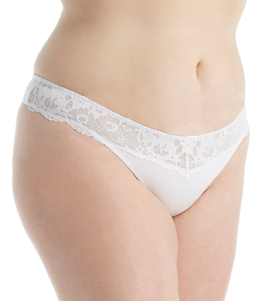 Cosabella : Cosabella IT0341P Italia Low Rise Plus Size Thong (White XL)