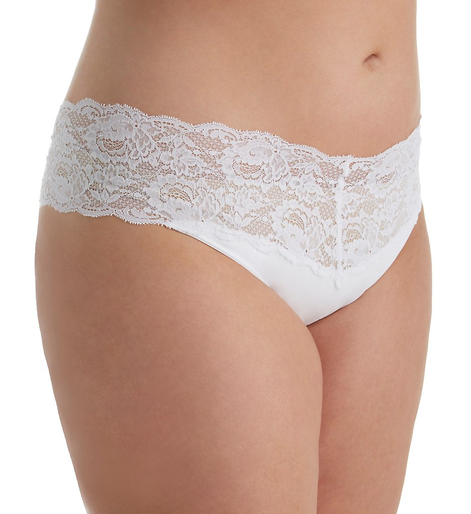 Cosabella N0341P Never Say Never Lovelie Lace Plus Size Thong (White L/XL)