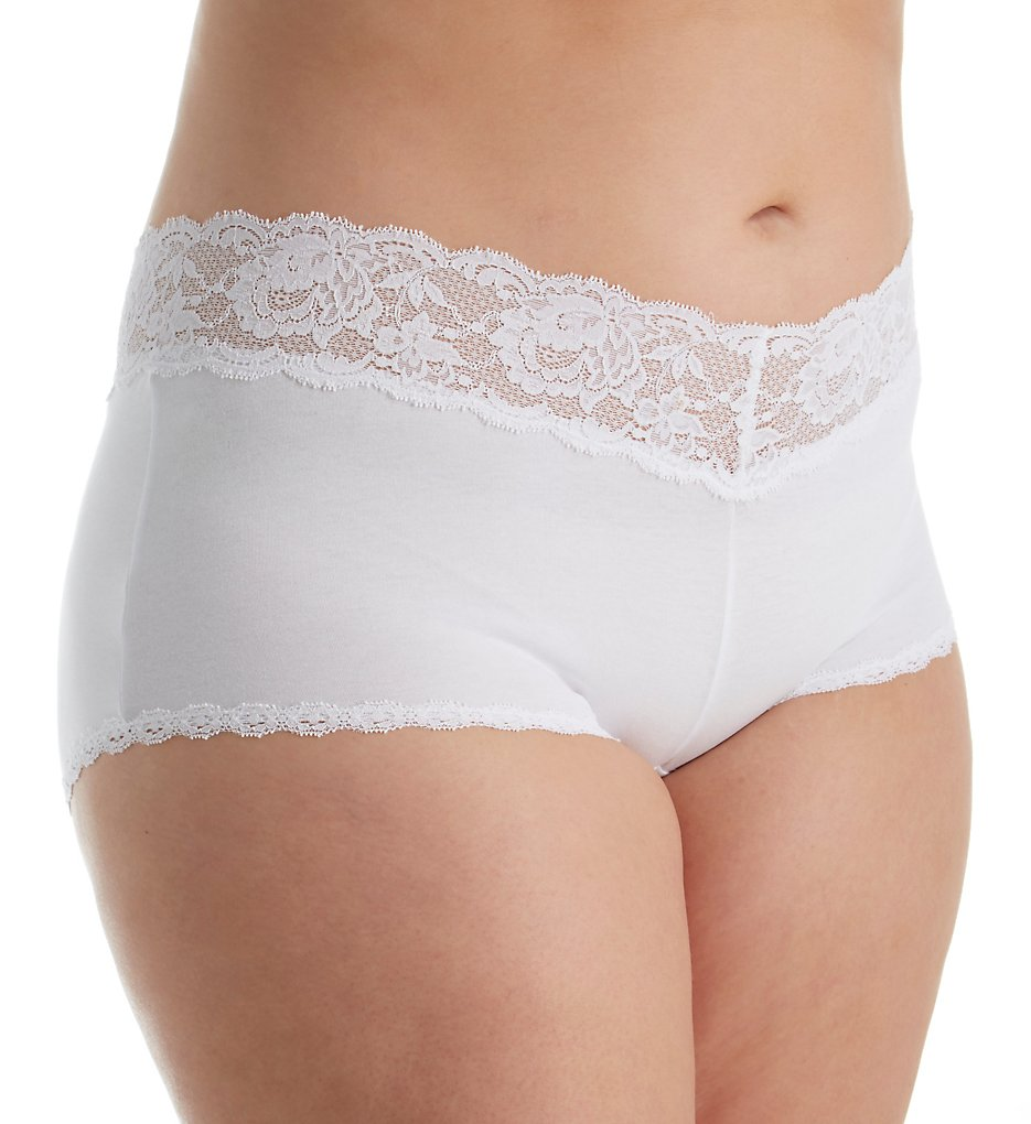 Cosabella N0741P Never Say Never Cheekie Low Rise Hotpant Plus Size (White XL)