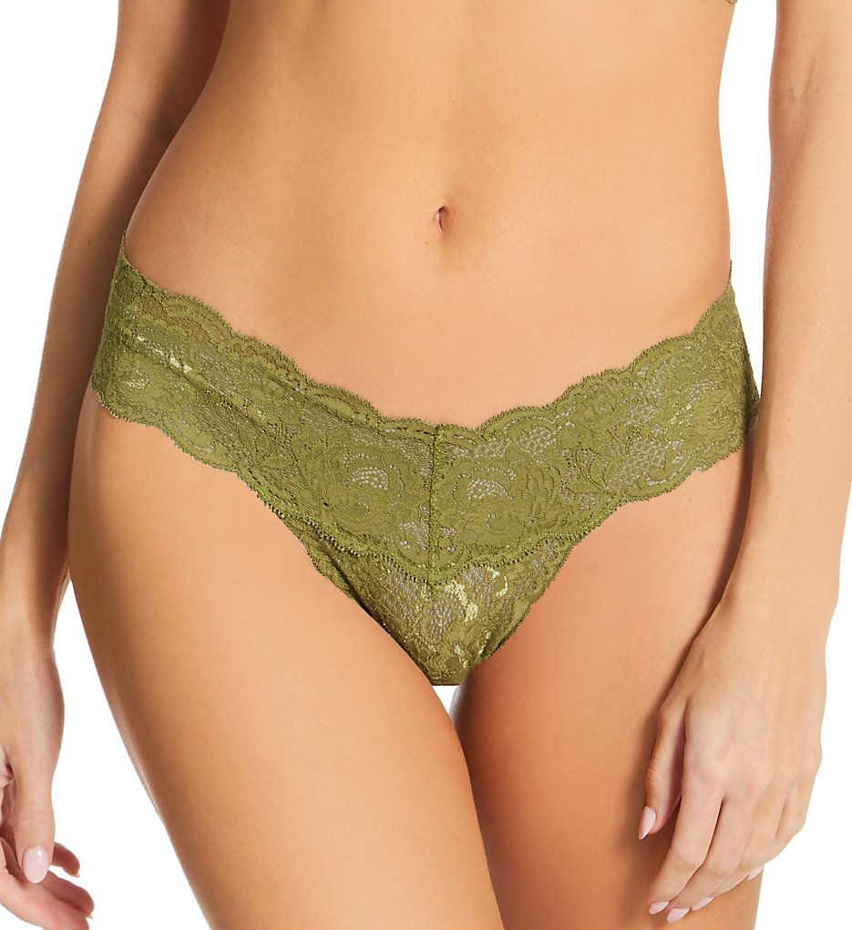 Cosabella Nev03ZL Never Say Never Cutie Low-Rider Lace Thong (Aloe O/S)