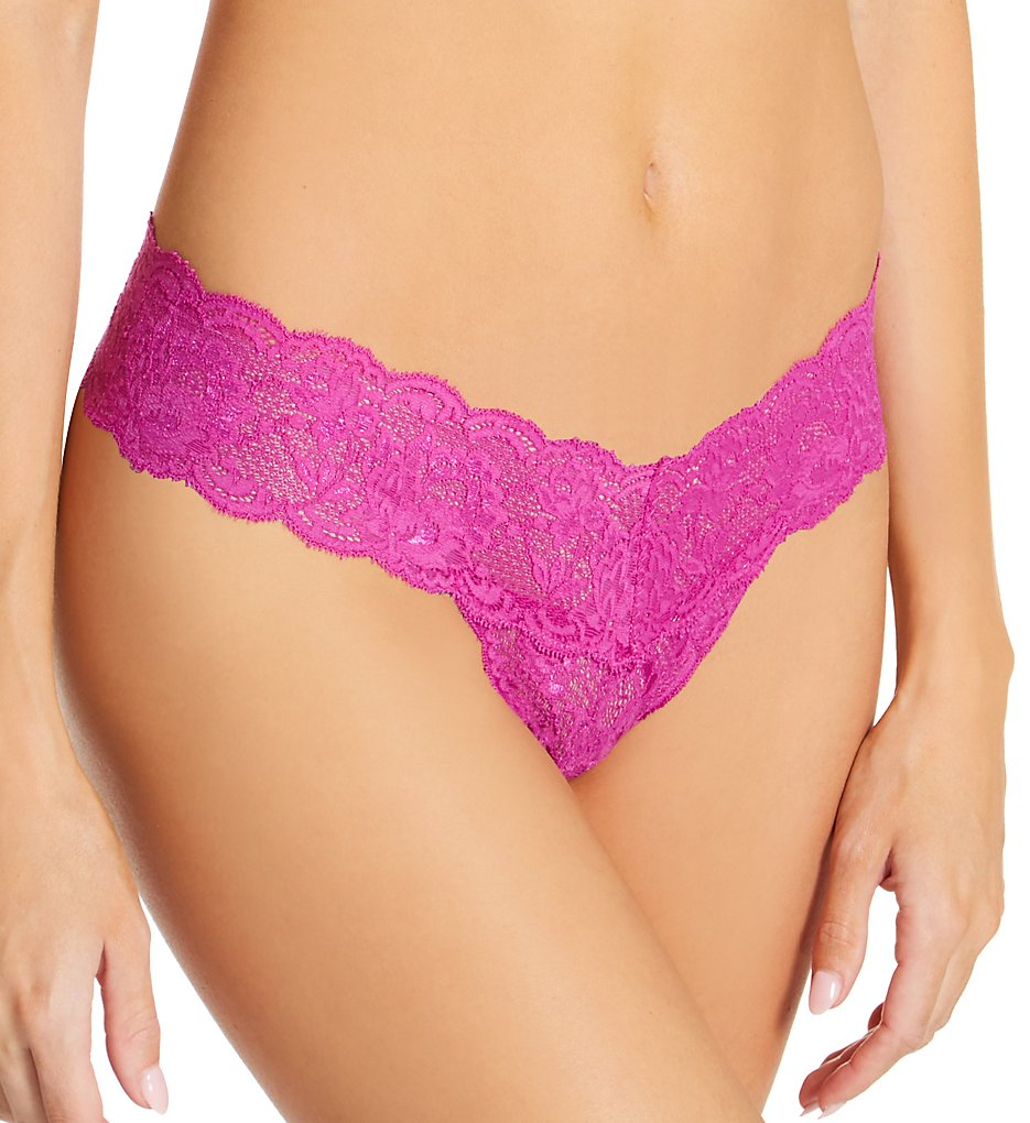 Cosabella Nev03ZL Never Say Never Cutie Low-Rider Lace Thong (Cape Fuchsia O/S)