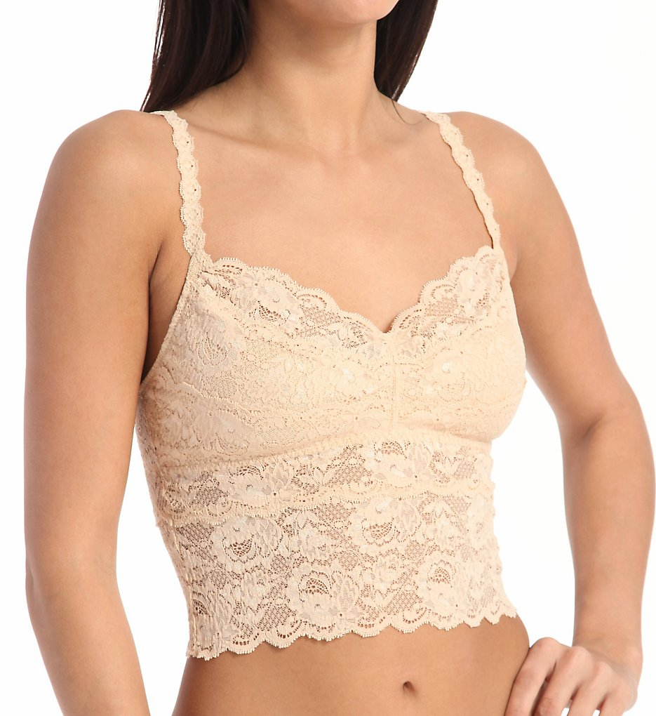 1920s Style Lingerie Cosabella Nev1873 Never Say Never Cropped Cami Blush XL $79.00 AT vintagedancer.com