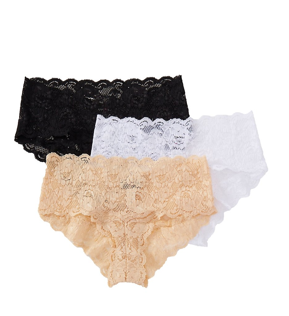 Cosabella - Cosabella NSP0372 Never Say Never Hottie Hotpant Panty - 3 Pack (Black/Blush/White S/M)
