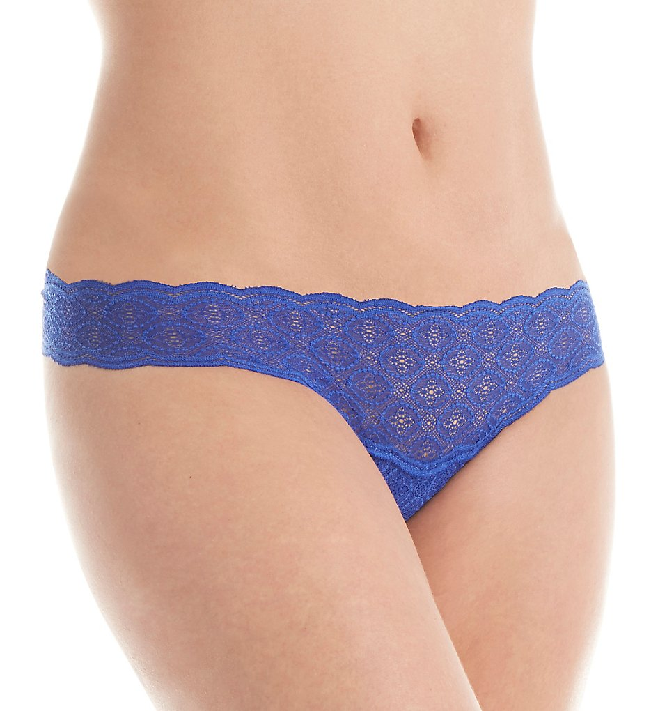 Cosabella >> Cosabella TRA0325 Sweet Treats Mini Medallion Thong (Ultra Blue O/S)