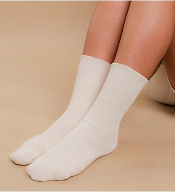 718aad5532a Cottonique Latex Free Organic Cotton Socks - 2 Pack M27703 ...