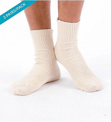 Cottonique Elite Elastic-Free Organic Cotton Socks - 2 Pack